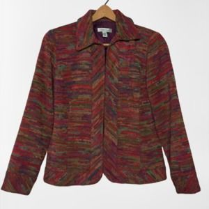 Coldwater Creek Colorful Tapestry Jacket Blazer